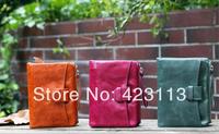 Hot Sale Wallet Women Genuine Leather NEW Fashion 3 Colors Cow Leather Lady Purse zipper oil wax Design wallet