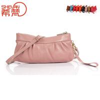 First layer of cowhide small bag genuine leather women's handbag brief handbag shoulder cross-body bag
