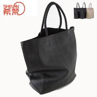 Casual genuine leather shopping bag fashion first layer of cowhide bag shopping bag genuine leather handbag women's one shoulder