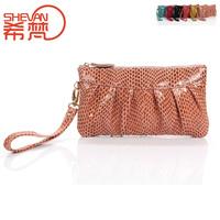 2013 nubuck cowhide genuine leather women's handbag clutch bag coin purse day clutch