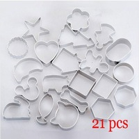 2015 Cookie Mold Wholesale-free Shipping 21pcs/set Alu Different Shape Cookies Cutter Mold Alloy Cake/ Rice Pastry Decorating