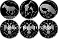 Free Shipping 2014 New Russia Rouble Coins Worldwild Rare Animal coins 15pcs/lot