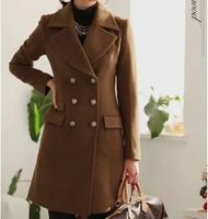 Ningjing wool coat winter outerwear female autumn and winter women large lapel woolen suit plus size