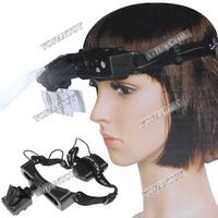 1X 1.5X 2X 2.5X 3.5X Binocular Lens 5X 8X 20X Monocular Lens LED Head Magnifier Read Watch Repair Headband Magnifying Lens 9892E