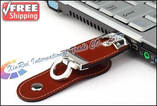 2014 New Leather 64GB Pen Drive USB Flash Drive Pendrive Memory Stick Card U Disk Thumbdrive Free Shipping Brazil Russia(China (Mainland))