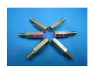 Free shipping 100pcs copper M3 series Single-head hex standoffs / Screw studs M3 * 5 +6!