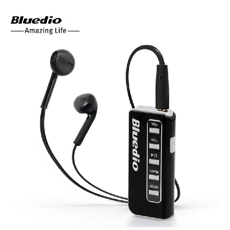 Handsfree Bluetooth Headset Bluedio Soulmate I5 Clip-on Wireless Stereo Multimedia Headphones Micro SD Card FM In-ear Earphones(China (Mainland))