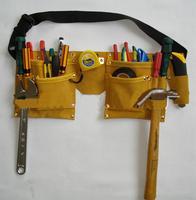 2014 New Designer Waist Packs/Grip Double Leather Pouch Tool Belt Holder Electrician Construction Carpenter