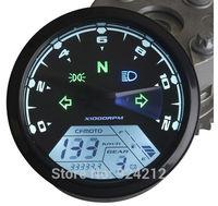 New LCD Digital Speedometer Odometer Tachometer Motorcycle Motor Bike For 1,2,4 Cylinders