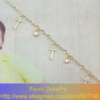 GSE4066 16K GP fashion Key pendant bracelet Freeshipping 2pcs/lot