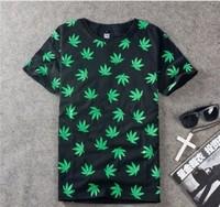 On Sale Drop Shipping New 2014 Westcoast National Wind Short-Sleeve Tees cashew hemp leave skateboard O-neck pilot weed T-Shirts