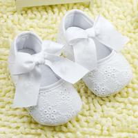 Baby Girl White Shoes Toddler Prewalker Anti-Slip Shoe Simple Baby Shoe Free &Drop shipping