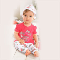 2014 new  baby girls' clothing sets with blouse+pant+scarf  of sports clothing summer garment suit for  children clothes set