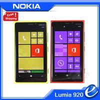 "Lumia 920 Original unlocked Nokia Lumia 920 windows mobile phone 4.5"" Capacitive screen Dual core 32GB ROM 1G RAM free shipping"
