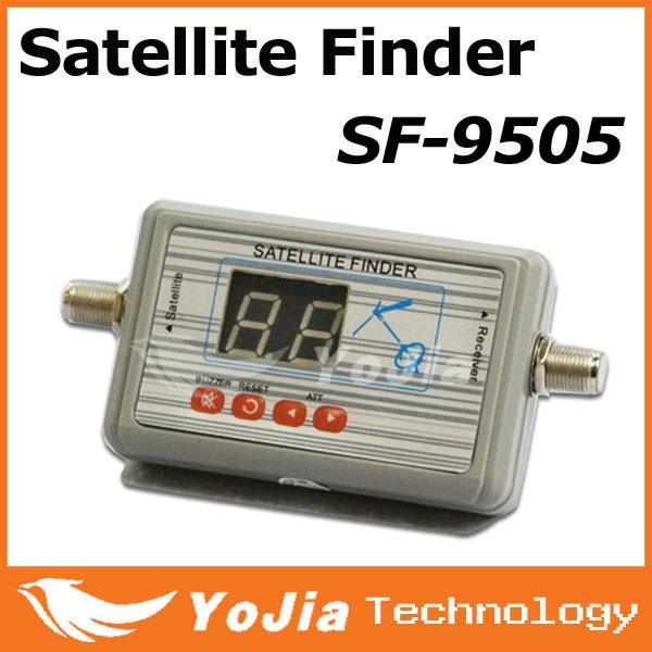 1pc Original SF-9505 Digital Displaying Satellite Finder Meter TV Signal Finder SF9505 Sat Finder Free Shipping Post(China (Mainland))