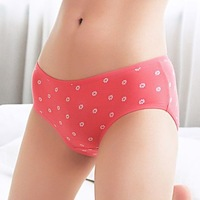 nz450 modal briefs 2014  2Pcs 10color girl menstruation little Daisy broken flower modal anti sliding sideways cotton briefs