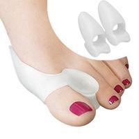 2Pairs (1Pair=2pcs) Toe Separator Beetle-crusher Bone Ectropion Straightener Pain Relief Silicone Gel Bunion Protector Foot Care