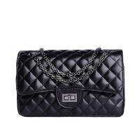 2014 women's fashion cowhide leather handbag  fashion lady plaid chain bag famous designers brand  cross-body shoulder bag 1113