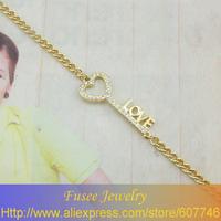 ISE00618 18K gold plated Filled  Heart LOVE Bracelet 2PCS/LOT