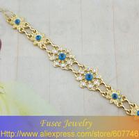 ISE00638 18K gold plated Filled   Evil eye  Bracelet