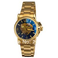 Hot Sale Brand Watch Winner Stainless Steel Skeleton Mechanical Ladies Watch Heart-shaped Surface Skeleton Watch Free Shiping