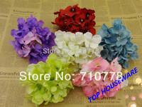 6C available DIA 15cm artificial hydrangea flower head diy wedding bouquet flowers head wreath garland home decoration