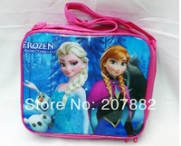 Free Shipping! 50pcs/lot 2014 Top Quality Frozen Princess Lunch Bag Cartoon Childers Lunchbox for Girls Lunch Tote A3277