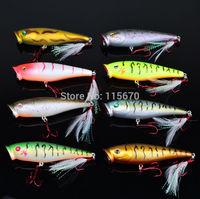 8pcs/lot Fishing Lures 2014 Hot Proberos Popper Lure 8color Fishing Tackle 9.5cm/14g Fishing bait Free Shiping