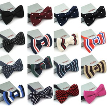 New 2014 Knitted tie collar yarn bow male women's casual fashion  bowties butterfly bow ties for men(China (Mainland))