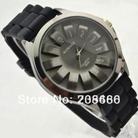 Free Shipping Hot sale fashion daisy petals  silicone quartz  wristwatch unisex   10 colors