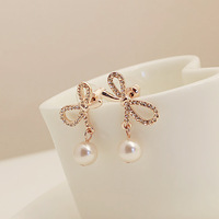 High quality dish in love pearl fashion brief stud earring