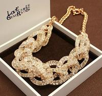 High quality luxury in love short design gorgeous austrian diamond necklace fashion accessories