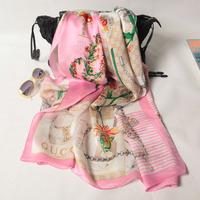 180x70cm 124053 2014 Newest  Women's 100% Silk scarf, 100% Silk scarves, rectangle silk scarf, Free Shipping  Muslim Hijab