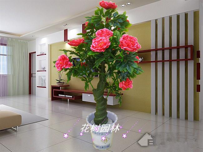Artificial tree plastic fake tree peony minstrelsy artificial plants floor decoration flower artificial silk flowers plants(China (Mainland))