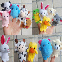 Fantastic ! New Arrive 10pcs  Animal Finger Puppet Plush Child Baby Early Education Toys Gift reeshipping&Wholesale Feida