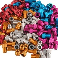 Cnc anode multi-colored ! bicycle road bike gas nozzle