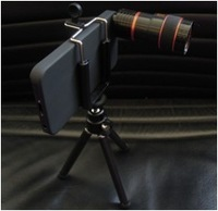 8X Mobile Phone lens for iphone5 Long Focus Telescope Zoom Lens  for smart  Phone with Camera Lens Tripod Stand holder Case