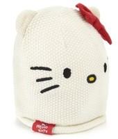 New Cute Round Dot Bowknot Hello Kitty Knitting  1~6 Years Children's Beanies Hats