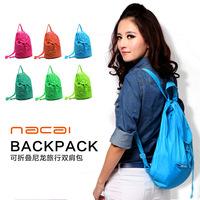 [Travel admission season] color ultralight nylon shoulder bag portable storage travel bag / fashion temperament paragraph