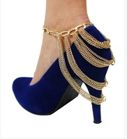 FREE SHIPPING F02 Fashion Shoe Anklet Body Chain Foot Jewellry Fashion Jewelry