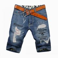 2014 summer high quality brand jeans men jeans shorts cotton casual men's denim shorts pant Plus Size trousers men's clothing