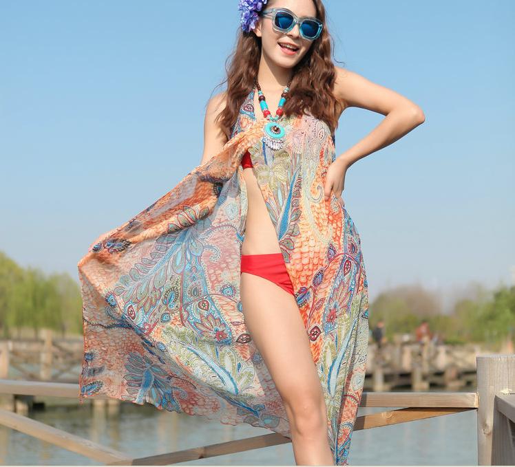 fashion women summer chiffon scarf beach dress scarf women 150*75cm fashion brand scarf women swimwear bikini cover up(China (Mainland))