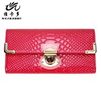 2013 genuine leather wallet women's long design wallet card holder cowhide day clutch wallet
