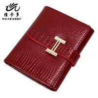 Vicat female wallet cowhide women's wallet short design female wallet women's wallet