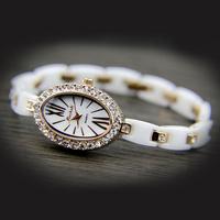 Married new year gift mashali ceramic watch gorgeous top watchband rhinestone royal gorgeous lady