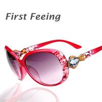 6 Color Fashion Classic Big Frame Women Diamond Sunglasses Lady Brand Driving Sun Glasses UV Protect GA014