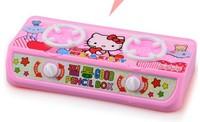 free shipping 10pcs/lot Cartoon Hello Kitty  School Pencil Bag Stationery Set