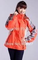 New Brand Women's winter windstopper Jackets sport Outerwear Camping Windproof Coats 2in1 jacket Orange