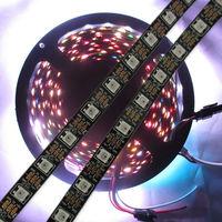 4M 240leds/roll WS2812B Black LED Pixel Srip Non-waterproof 60pcs WS2812B/M & 60 IC DC5V