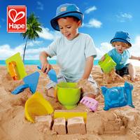 2014outdoor fun & sports Hape beach toy set small set sand brick pp European original design safety, environmental protection